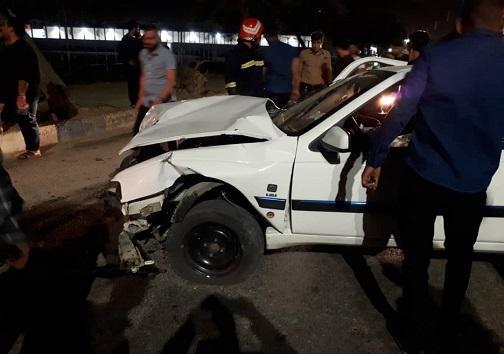 واژگونی یک دستگاه خودروی 405 در خرمشهر