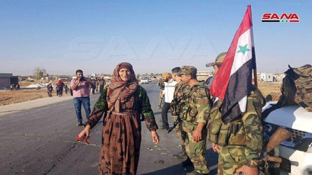 ارتش سوریه در حال ورود به رقه است