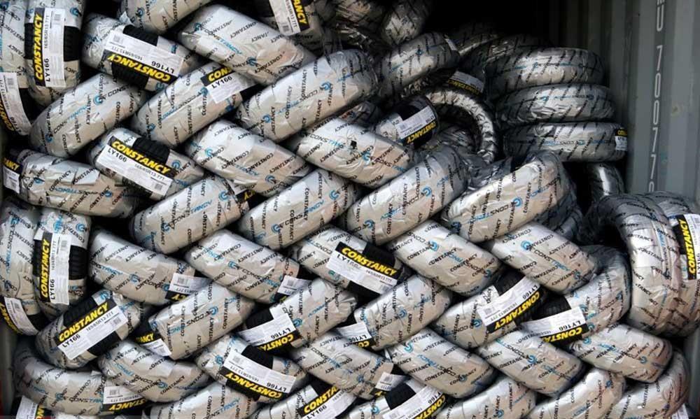688 حلقه لاستیک قاچاق در میاندوآب کشف شد