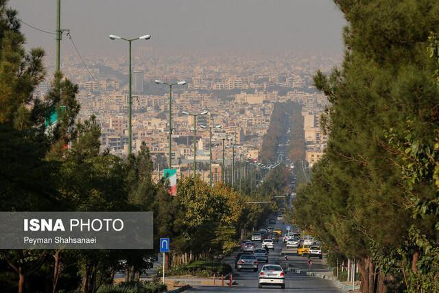 بالا رفتن شاخص آلودگی هوای اصفهان باوجود گزارش ناپایداری هوا