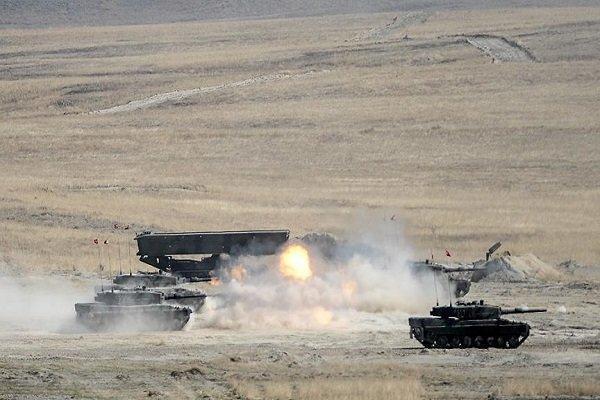 حملات توپخانه ای ارتش ترکیه به مواضع ارتش سوریه