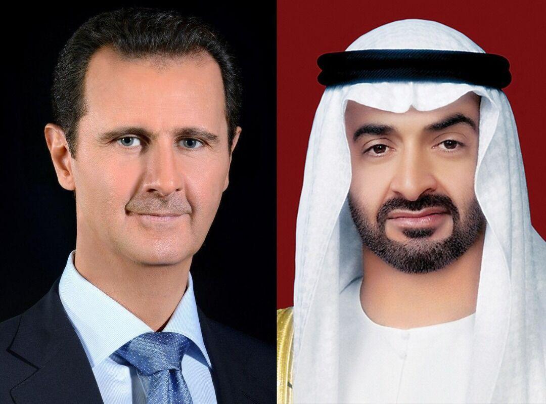 خبرنگاران حمایت امارات از سوریه در گفت وگوی تلفنی بن زاید با بشار اسد