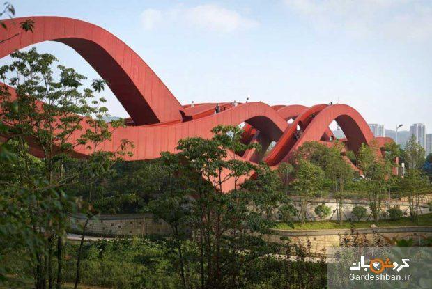 پل گره شانس با طراحی عجیب در چین، عکس