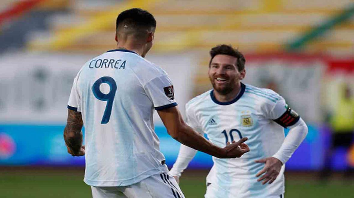 درگیری لفظی لیونل مسی با مورنو بعد از بازی بولیوی و آرژانتین