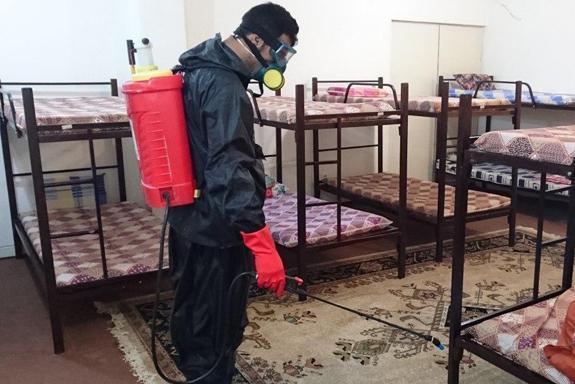 اجرای پروتکل های بهداشتی در خوابگاه های دانشجویی دانشگاه علوم پزشکی فسا