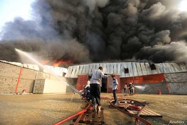 آتش سوزی در اردوگاه مهاجران در یمن، 8 تن کشته و 170 تن زخمی شدند