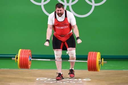 رکورد شکنی وزنه بردار گرجی در فاصله 4 ماه مانده به المپیک
