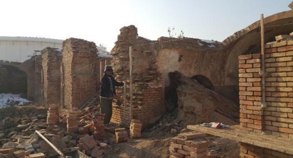 شروع فاز دوم عملیات مرمتی در کاروانسرای تاریخی ارومیه