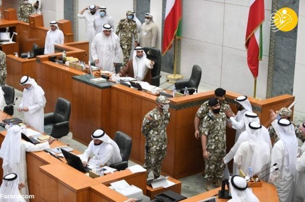 (تصاویر) درگیری در مجلس کویت