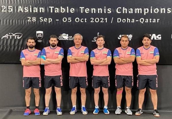 تنیس روی میز قهرمانی آسیا، نام پنجمی تیم مردان ایران و ثبت بهترین نتیجه در تاریخ